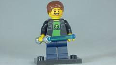Brick Yourself Custom Lego Figure Happy Gamer with Light saber