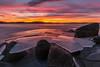 Heartwarming ice (B. Idzenga) Tags: ice sweden lake landschape sunset winter cold warm eos 700d canon 1018mm