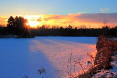 Winter solitude (Daniel Q Huang) Tags: winter snow frozenlake twilight
