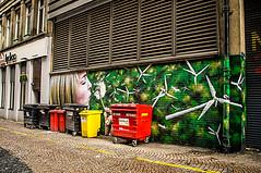 Renewable Energy (Brian Travelling) Tags: renewable energy street art bin refuse recycleable pentaxkr glasgow streetart urban city