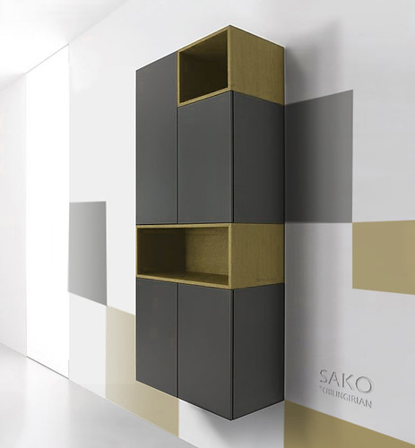 Flying 3D Furniture installation Art