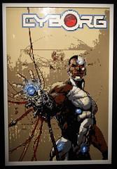 Cyborg (ec1jack) Tags: artofthebrick southbank dc lego brick cartoon london england britain uk europe winter march 2017 ec1jack kierankelly canoneos600d exhibition dccomics cyborg poster