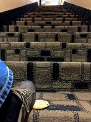 The Day I Stepped on a Chocolate Chip Cookie While Climbing the Stairs at a Best Western in Edmond Oklahoma (ricko) Tags: cookie chocolatechip step stairs foot motel bestwestern edmond oklahoma werehere 64365 2017
