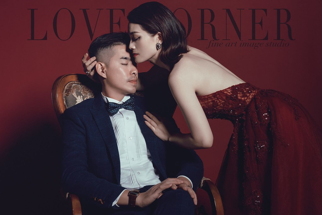 台南自助婚紗|攝影棚拍|單色背景紙|愛情街角|澤于