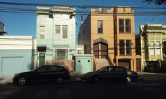 (sftrajan) Tags: sanfrancisco transformation victorian ugly siding noevalley stucco victorianarchitecture disfigured sanchezstreet remodeled aluminumsiding eastlakestyle twentyseventhstreet 1371sanchezstreet 1369sanchezstreet 1363sanchezstreet