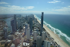 Vue plage gold Coast