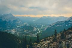 Banff seen from Sulphur Mountain (tevenson) Tags: canada storm hiking banff sulphurmountain