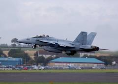 166681 F18 US NAVY BLACKLIONS (douglasbuick) Tags: scotland us airport nikon flickr aircraft military navy super hornet f18 prestwick d40 166681