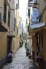 Corfu Town, Greece (mrips) Tags: street old city travel architecture canon island photography europe scooter corfu oldtown narrow easterneurope corfutown