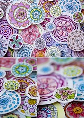 Round and Round (Ginny Griffin) Tags: color illustration pen pencil ink project watercolor paint circles hobby marker draw zia zentangle