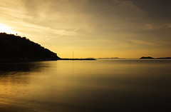 2 seconds at sunset (ORIONSM) Tags: sunset sea water landscape island golden long exposure sony greece hour corfu ionian syvota rx100