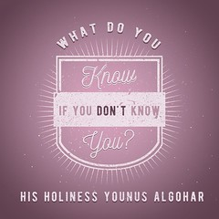 QuoteoftheDay 'What do you know if you don't know you?' - His Holiness Younus AlGohar (myakoob2018) Tags: vintage awakening quote perspective philosophy quotes knowing knowledge lettering spirituality innerpeace consciousness inspiring qotd selfrealization photooftheday picoftheday wisewords realization higherconsciousness lifequotes instapic inspiringquotes dailyquotes instagood instaquote younusalgohar thedailytype thedesigntip
