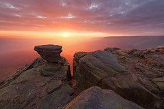 Fairbrook Naze Sunrise (Paul Newcombe) Tags: uk morning autumn england mist colour fog sunrise landscape outdoors nationalpark sandstone rocks peakdistrict september gritstone rockformation kinderscout 2015 fairbrooknaze britnatparks paulnewcombephotography canon1635f4l