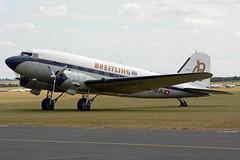 DSC_1160e (Proplinerman) Tags: airplane aircraft aeroplane duxford douglas dakota airliner c47 propliner hbirj