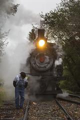 2015-10-03 0831 Inspecting Broken Rail , Durbin, WV (jimkleeman) Tags: dgv climax climax3