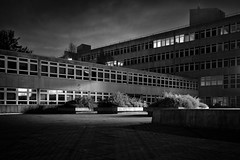 County Hall (Barnaby Nutt) Tags: county white black architecture night hall long exposure leicestershire unitedkingdom modernism modernist