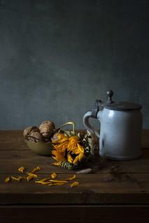 Still Life with Sunflower and Mug