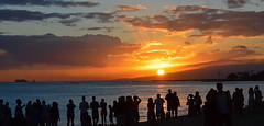 Sigil (jcc55883) Tags: ocean sunset sky silhouette clouds hawaii nikon waikiki oahu horizon pacificocean nikond3200 d3200 kuhiobeachpark
