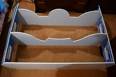 Disney Frozen Snowflake Mansion by KidKraft - Assembling - Step 11 - Front Side Wall Panels (Parts 6 and 7) - Assembled - House Lying Down (drj1828) Tags: snowflake castle ice toy frozen palace costco mansion dollhouse 12inch assembling kidkraft