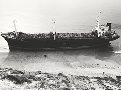 Bozcaada (Serhat Kazan) Tags: sea blackandwhite monochrome island boat ship outdoor aegean vehicle bozcaada