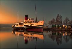 Sunset on the Maid of the Loch (Alistair_Images) Tags: scotland loch steamer lochlomond maidoftheloch 60d