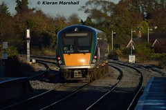22004 departs Sallins, 7/11/15 (hurricanemk1c) Tags: irish train rail railway trains railways irishrail rok rotem naas 2015 icr 22004 iarnród 22000 sallins éireann iarnródéireann 3pce sallinsandnaas 1530newbridgeheuston