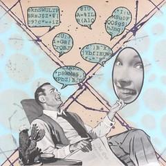 dialogue - one sided (kurberry) Tags: blue collage square cutpaste madmen speechbubbles vintageephemera maritaldialogue