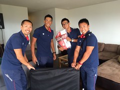 Team Japan Unpacking