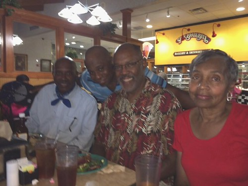 Greg, Tave, and Mary with me in Sept., 2014 at Golden Corrall in Douglasville, GA
