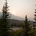Vista do acampamento no Parque Nacional Jasper