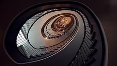 the Milky Way (pix-4-2-day) Tags: treppenhaus staircase regionshaus haus der region hannover hanover stairs treppen geländer treppengeländer leuchte spirale spiral lights leuchten lampen hildesheimerstrase pix42day stairway