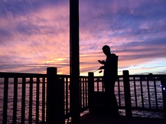 Beautiful Sunset Clouds Whilst Fishing (Kimberly C. Lee) Tags: sunset batterypark hudsonriver batteryparkcity sunsetclouds pierfishing nycsunset purpleclouds saltwaterfishing southcove inshorefishing nycfishing southcovepark hudsonriverfishing