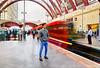 Waiting for the Train (Anatoleya) Tags: london train long exposure transport tube platform rush hour wharf commuting canary dlr hdr anatoleya