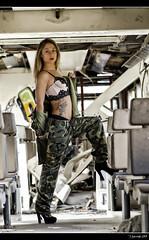 Jóvenes Guerreras XII - 4/6 (Pogdorica) Tags: españa tren ana retrato guerra modelo militar estacion sesion mili soldado uniforme abandonada