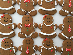 dressed up gingerbread couples! (sagodlove) Tags: ruffles gingerbreadmen bowties gingerbreadcookies girlwithpearls gingerbreadgirl pearlearrings decoratedgingerbreadcookies