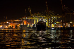 Shipping is 24/7 (Per-Karlsson) Tags: industry night port germany ship darkness harbour vessel maritime shipping vessels cargoship bremerhafen containervessel canonef24105mmf40lisusm canoneos6d