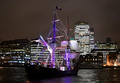 Phoenix (11) @ London Bridge 30-11-15 (AJBC_1) Tags: uk england london phoenix night boat ship unitedkingdom vessel nighttime pooloflondon tallship riverthames cityatnight sailingship cityskyline cityoflondon shipsatnight nikond3200 citybuilding upperpool prstunt filmpromo londoncityskyline intheheartofthesea squaresail dlrblog ajc americanwhalingshipessex