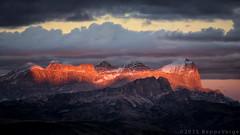 Le Tofane - Dolomiti (beppeverge) Tags: autumn sunset mountain alps fall tramonto foliage autunno alpi montagna unescoworldheritage dolomites dolomiti altoadige dolomiten italianlandscape sudtirol ladino tofane larici beppeverge