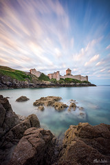 Le Fort-la-Latte (A.S photographie) Tags: ocean longexposure sea sky seascape castle beach rock architecture clouds landscape coast brittany bretagne chateau