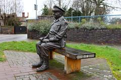 Captain Mainwairing statue, Thetford, Norfolk (uk_heritage) Tags: thetford sitcom dadsarmy