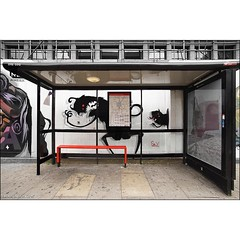 Shoreditch Invasion by Sr.X seen in #London. #wallkandy #art #streetart #graffiti #busstop #shoreditch #srx #mural #fb #f #t #p (Photos © Ian Cox - Wallkandy.net) Tags: street streetart london art canon ian photography graffiti gallery shoreditch document cox srx 2015 wallkandy