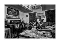 Before sleep (Jan Dobrovsky) Tags: bw biogon21mm contrast document evening grain gypsies indoor krásnálipa leicam monochrome roma monochrom kids