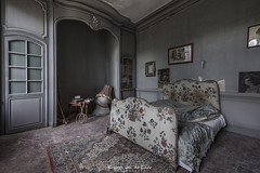 ... and we are in bed together, laughing, kissing, make love and we don't care about anything... (Kristel van de Laar Photography) Tags: abandoned castle decay beauty beautiful urbex france indoor photography chateau bedroom