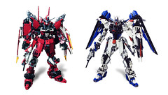 LEGO Freedom Gundam & Justice Gundam (demon14082001) Tags: ego gundam mobile suit seed moc creation perfect grade robot mecha destiny nền trắng justice x09a x10a zgmf freedom lego