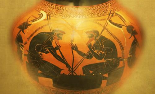 "Petteia - Ludus Latrunculorum  / Iconografía de las civilizaciones helenolatinas • <a style=""font-size:0.8em;"" href=""http://www.flickr.com/photos/30735181@N00/31678492074/"" target=""_blank"">View on Flickr</a>"