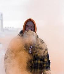 Jack ORange- (Neal Edelstein) Tags: smoke orange canada farm white beard cold winter canon 85 12 8512 85mm dlsr 5d 5dmarkiii 5dmark3 mark3 markiii face faces visage portrait portraits head