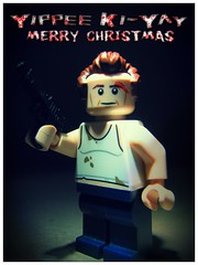 Merry Christmas (LegoKlyph) Tags: lego custom bruce diehard die hard christmas movie classic john mcclane nypd hans gruber nakatomi