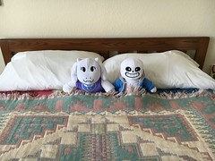 Undertale bedroom (greatandlittle) Tags: undertale plush game bed toys sans