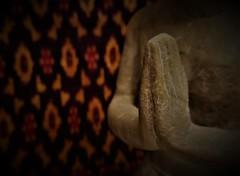 I say a little prayer (SM Tham) Tags: macromondays inspiredbyasong isayalittleprayer dionnewarwick burtbacharach haldavid song music stonecarving statue silk cushioncover cambodia closeup indoors hands praying