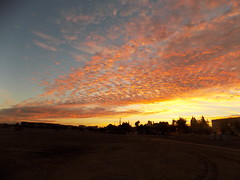 sunrise in Tempe (just me julie) Tags: sunrise tempe arizona clouds desert buildings cloudyday